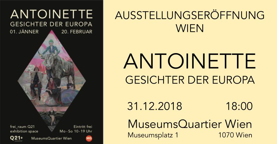 Flyer für die Vernissage in Wien 31.12.2018